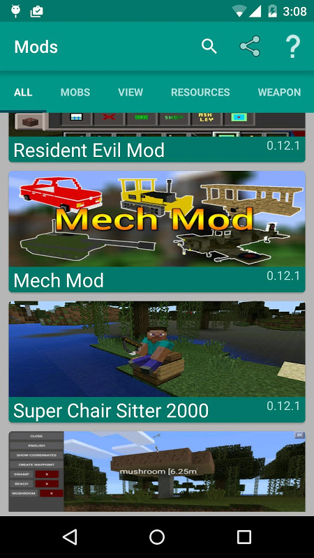 Mods for Minecraft 2.12.2 Screen 1