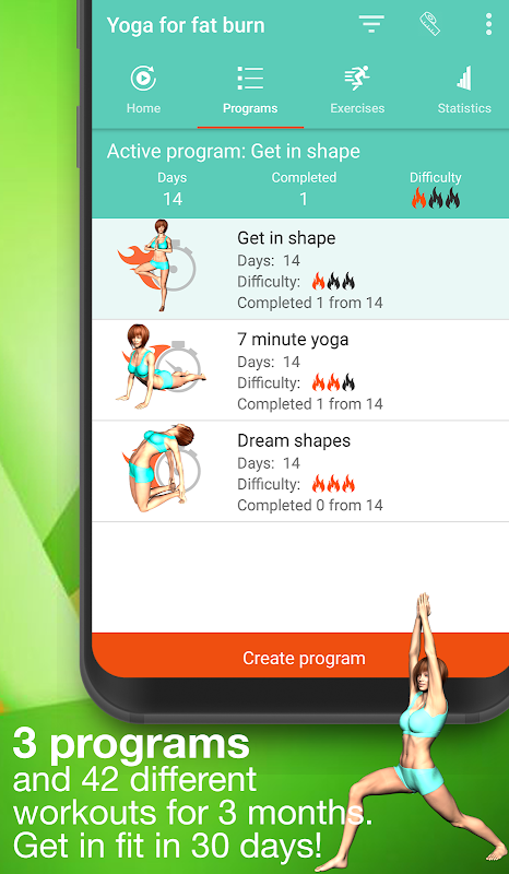 Android Yoga for weight loss -lose weight programat home Screen 1