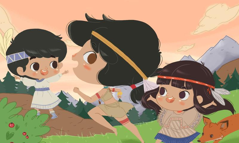 Android La historia de la Pocahontas Screen 1