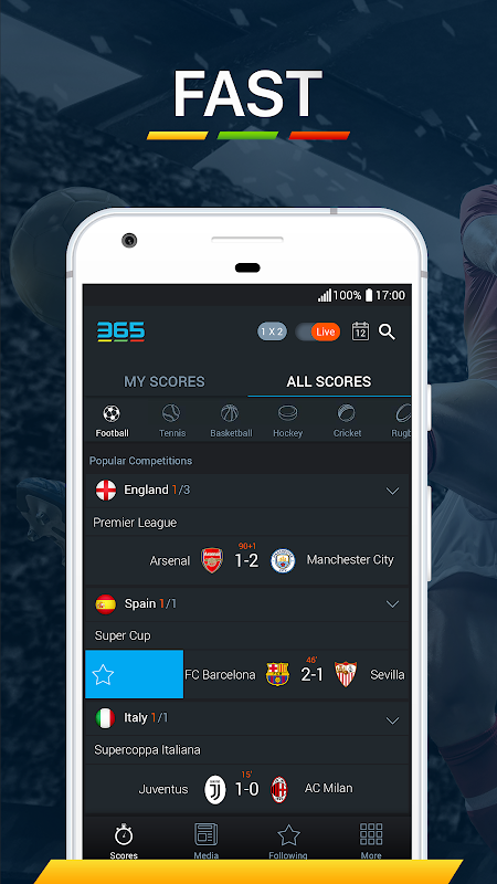 Android 365Scores - Live Score Screen 5