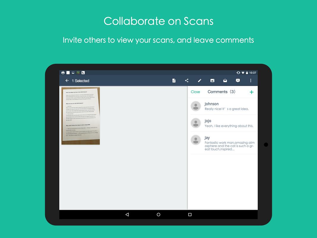 Android CamScanner -Phone PDF Creator Screen 11