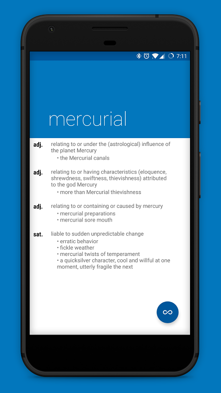 Android Look Up - A Pop Up Dictionary Screen 1