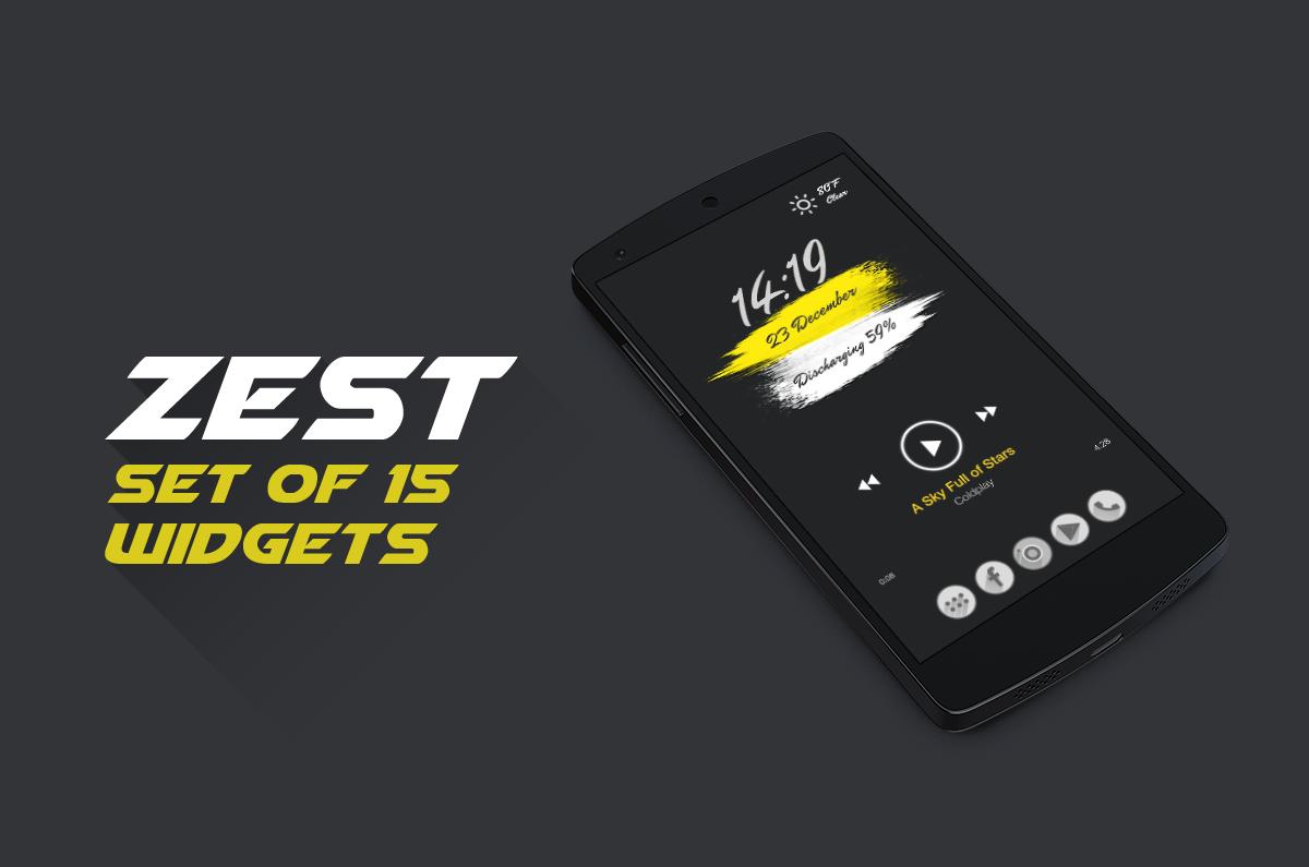Zest For Zooper Widget APKs   Android APK