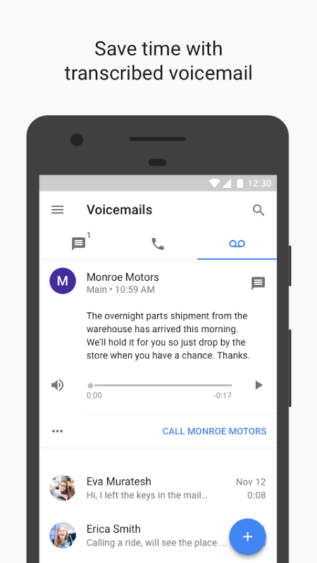Android Google Voice Screen 1
