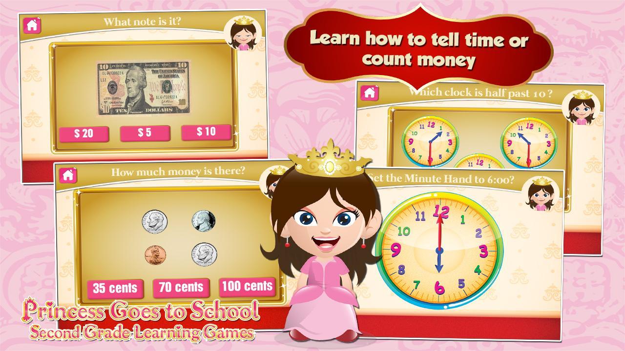 Princess Second Grade Games 3.05c Screen 2