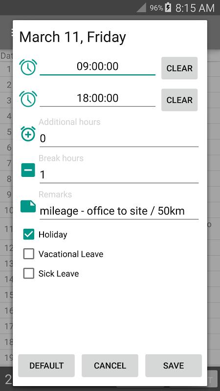 Time Card Lite 2.6.7 Screen 3