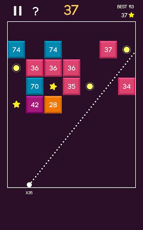 Android Brick Blast Ball Screen 10