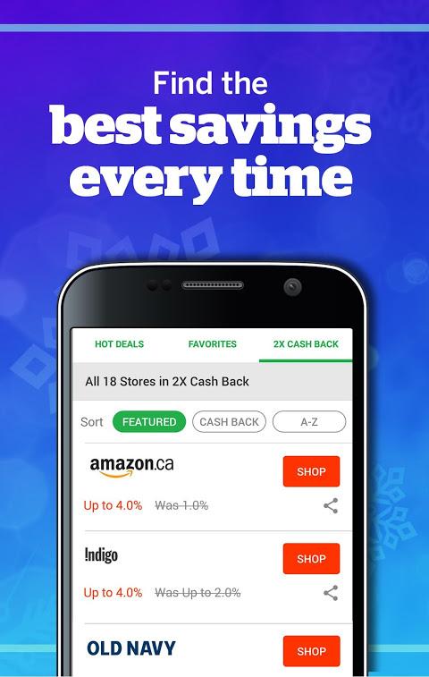 Ebates Canada: Shop Online & Earn Cash Back 5.0.0 Screen 3
