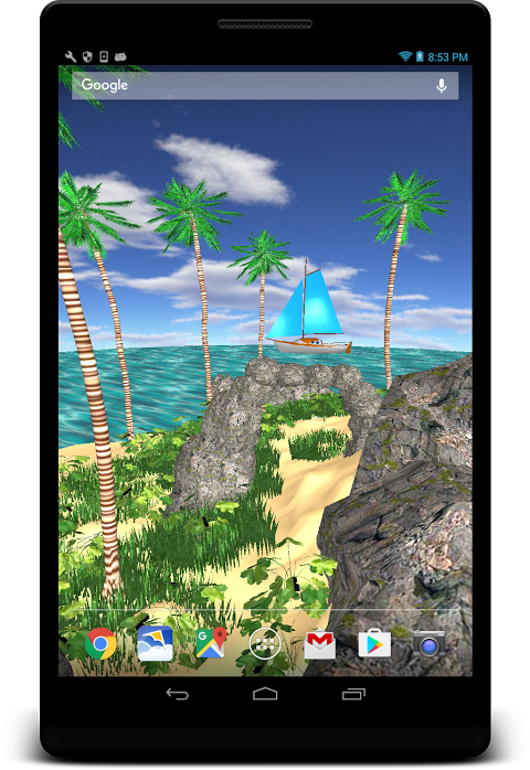 3D Tropical Island wallpaper 1.13 Screen 2