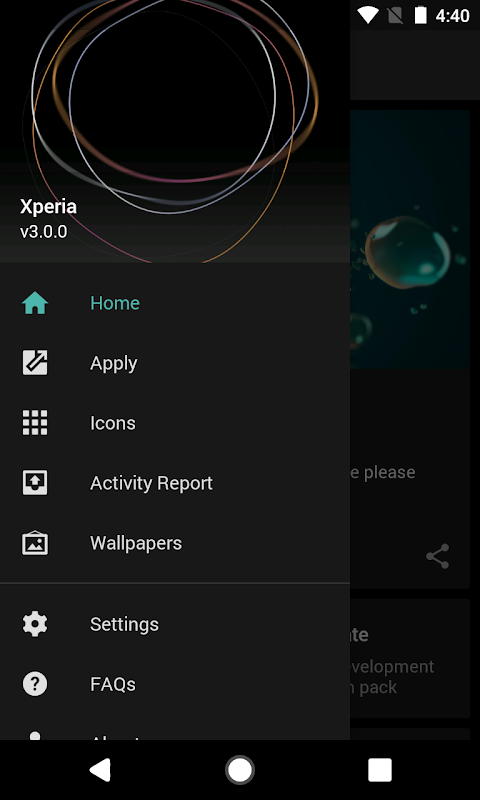 Android Theme - Xperia Screen 6