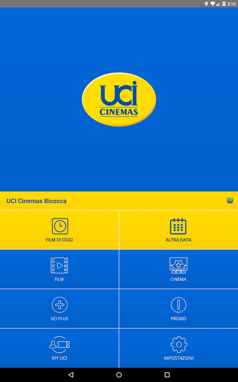 Android UCI CINEMAS ITALIA Screen 5