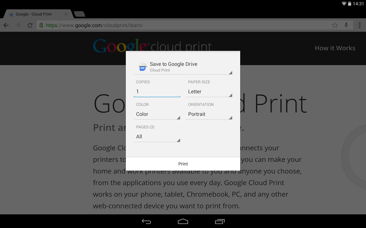 Cloud Print 0.9.8 Screen 2