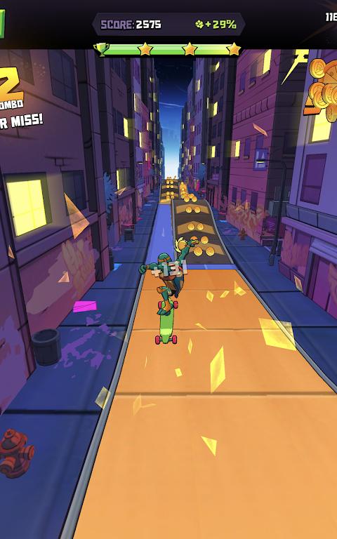Android Rise of the TMNT: Ninja Run Screen 3