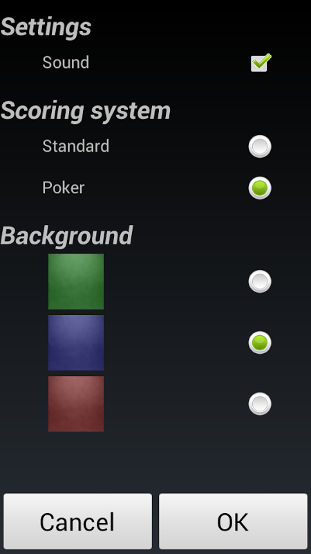 Android Poker Solitaire Screen 3