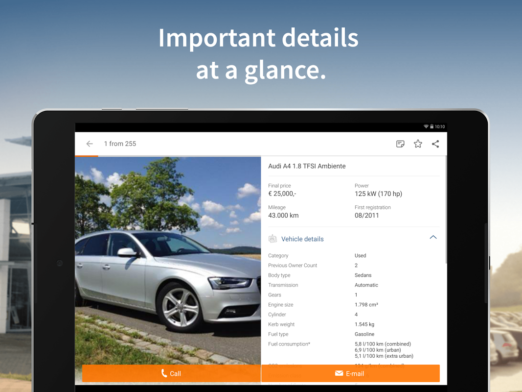 Android AutoScout24 - used car finder Screen 6