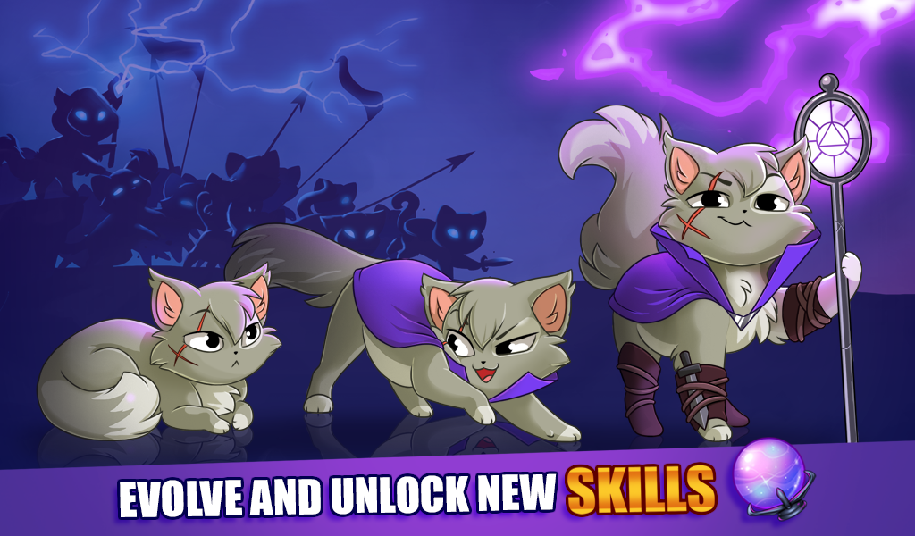 Android Castle Cats: Epic Story Quests Screen 2