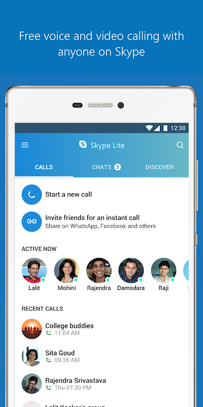 Skype Lite - Free Video Call & Chat 1.79.76.3 Screen 1