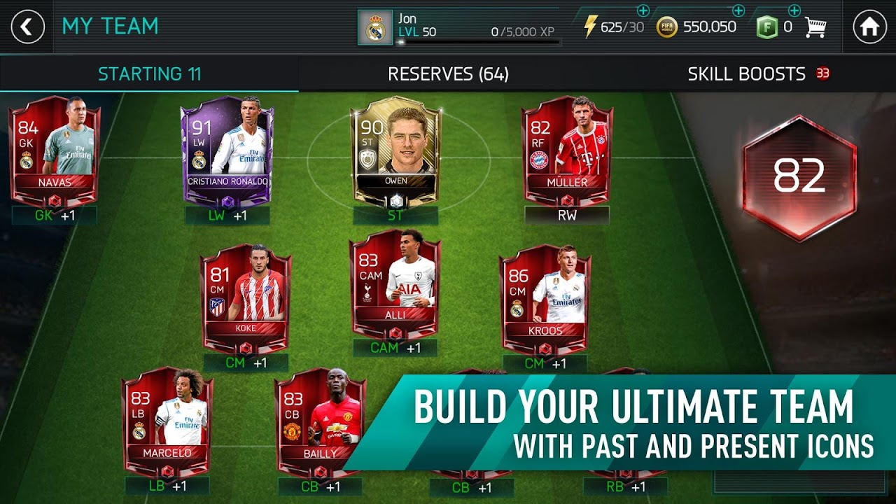 Android FIFA Mobile Football Screen 3