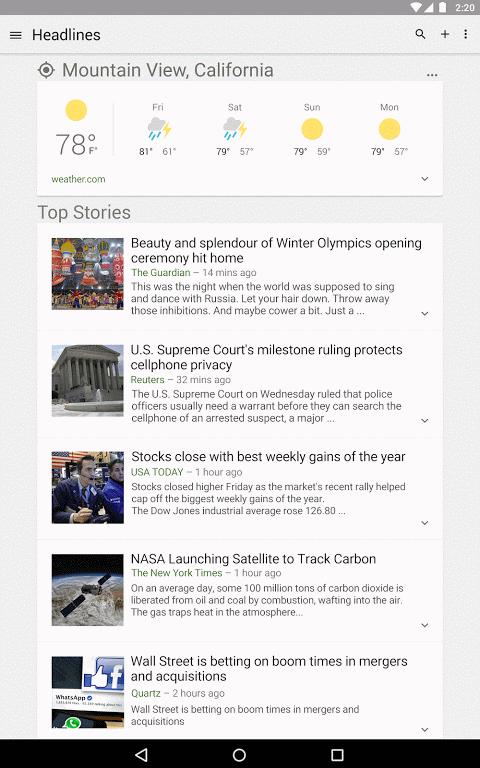 Google News & Weather 2.8.5 (136063537) Screen 6