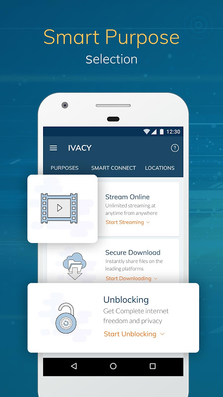Android Ivacy VPN - Best Fast VPN Screen 1