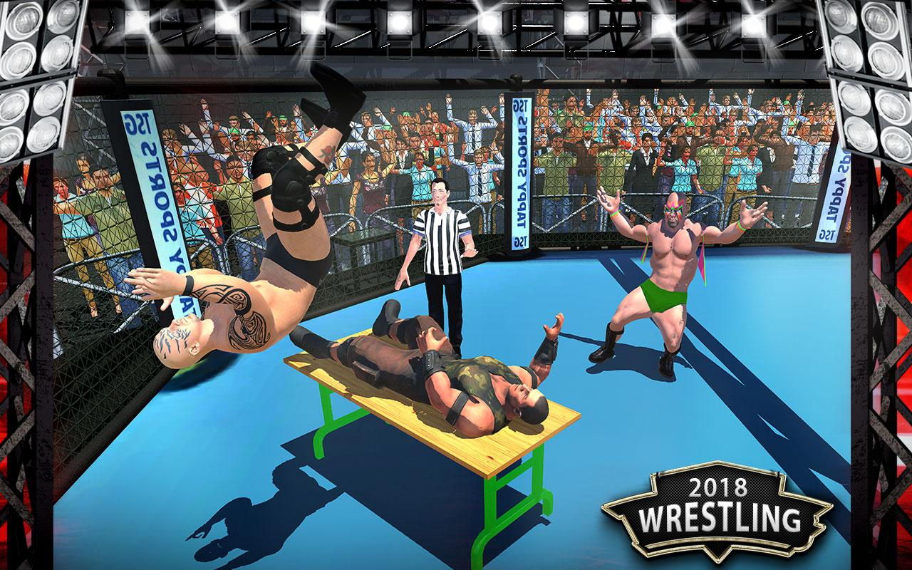 Android World Wrestling Revolution Mania Fighting Games 3D Screen 1