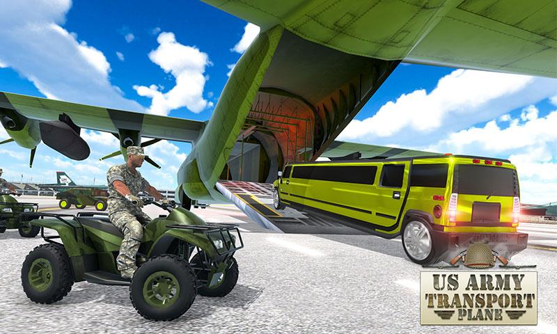 Android US Army ATV Quad Bike & Limo Car Plane Transporter Screen 2