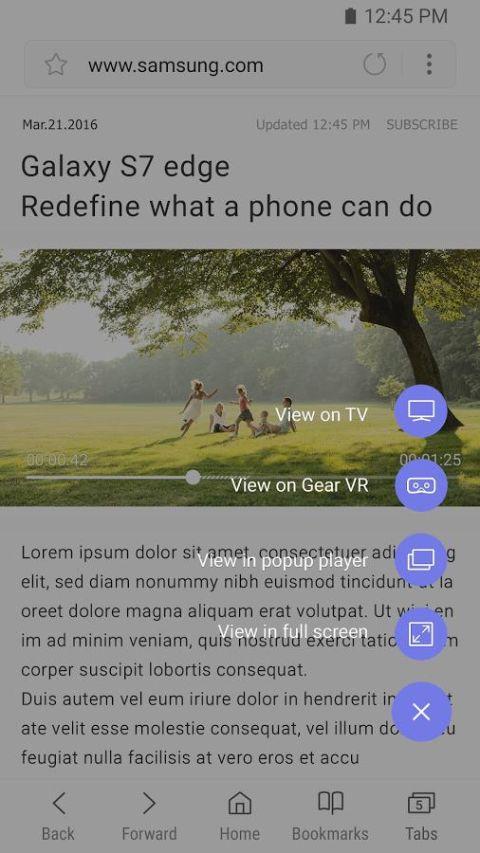 Samsung Internet Browser 7.0.10.46 Screen 5