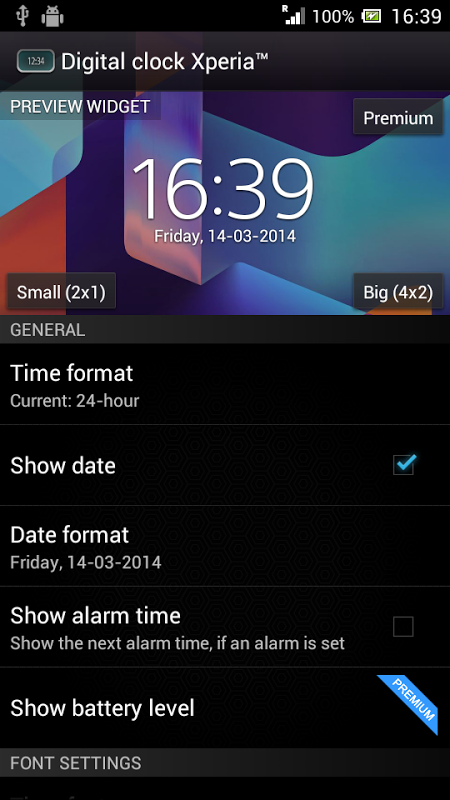 Download digital clock widget xperia apk file.