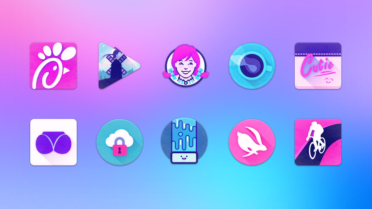 Android Unicorn Icon Pack Screen 4
