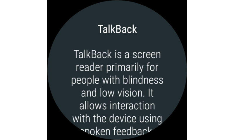 TalkBack 5.0.4 Beta 5 Screen 4