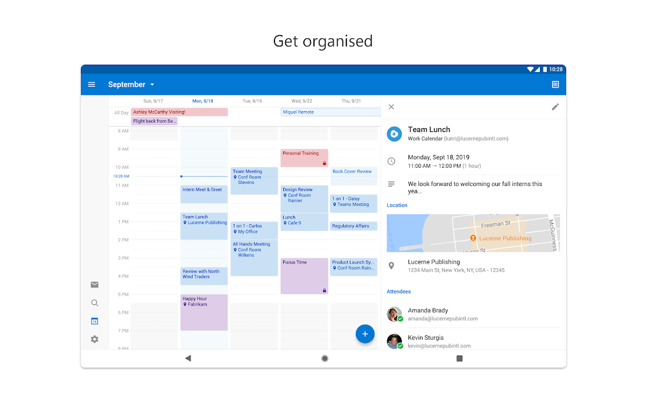 Microsoft Outlook 3.0.128 Screen 8