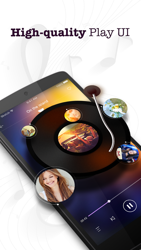 Android Music Player Screen 1