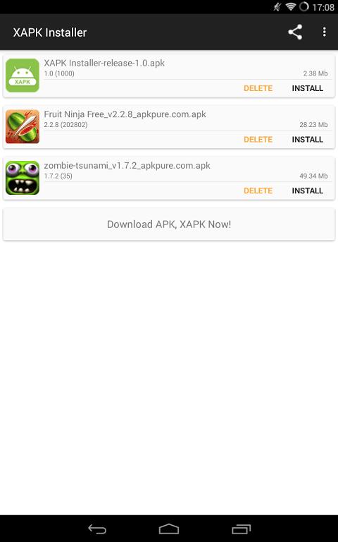 Android XAPK Installer Screen 1