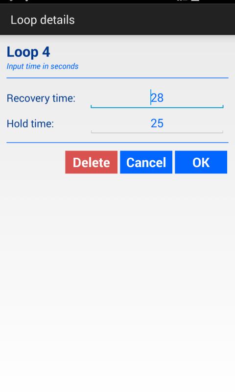 Android Apnea Trainer Screen 6