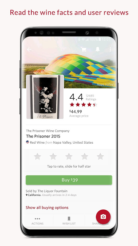 Android Vivino: Buy the Right Wine Screen 2