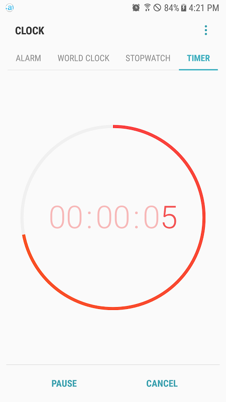 Android Samsung Clock Screen 5