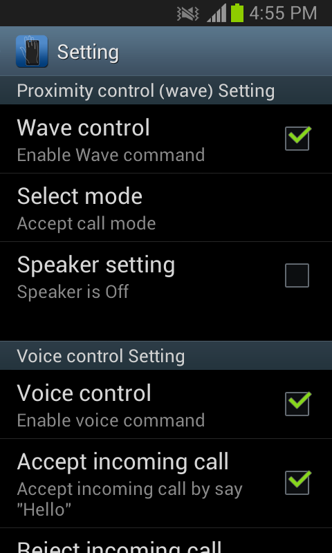 Android Smart Call Accept Screen 3