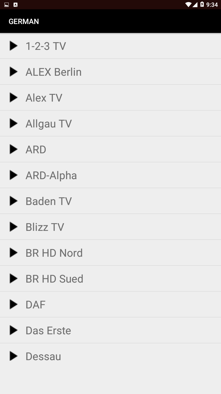 TV Player 1.2.1 Screen 1