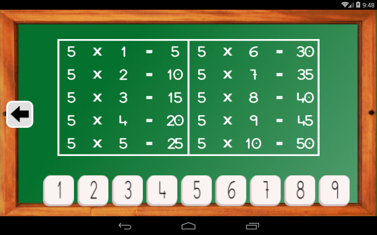 Android Maths Trainer Screen 13