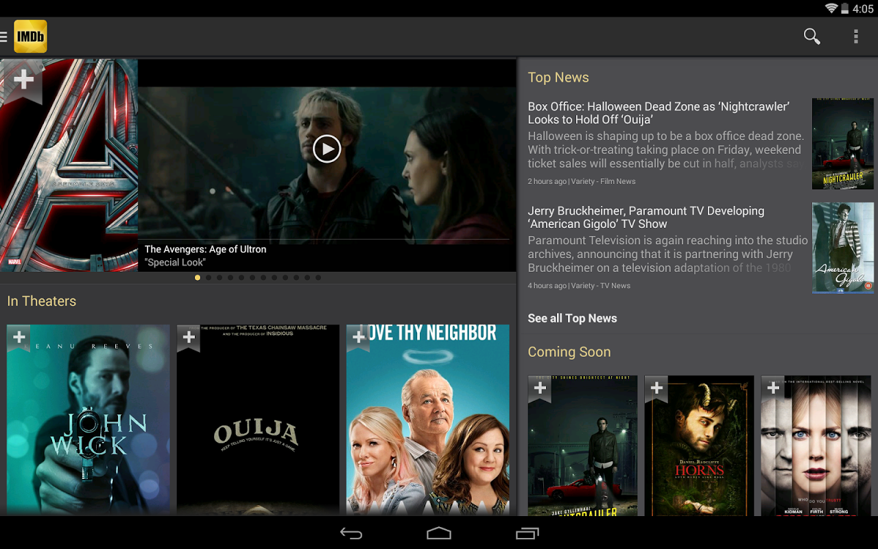 Android IMDb Movies & TV Screen 6