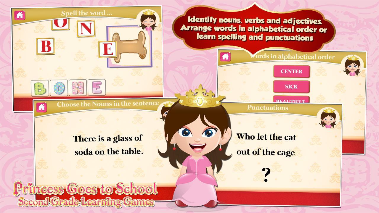 Princess Second Grade Games 3.05c Screen 3