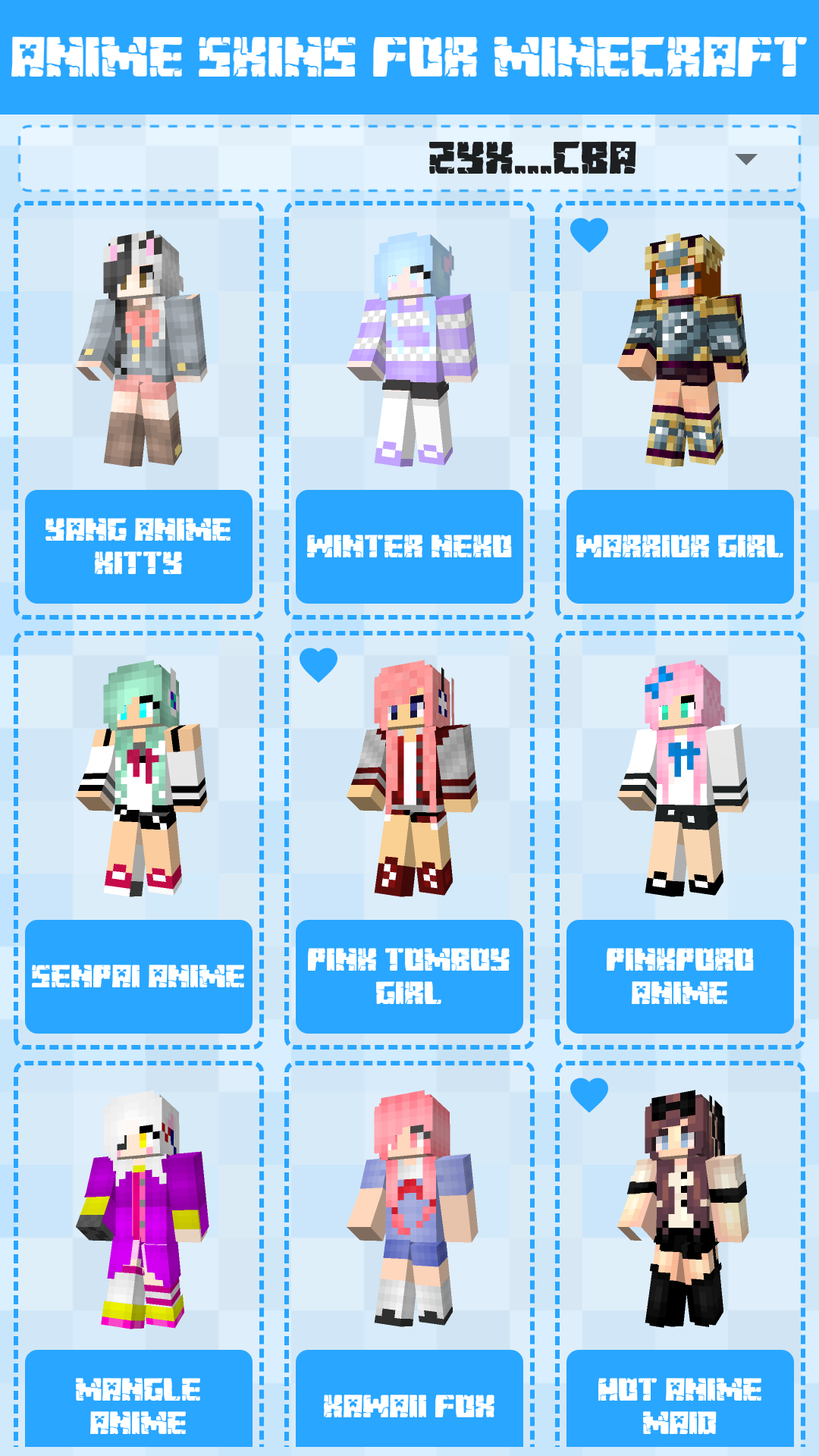 Android Anime Skins for Minecraft PE Screen 2