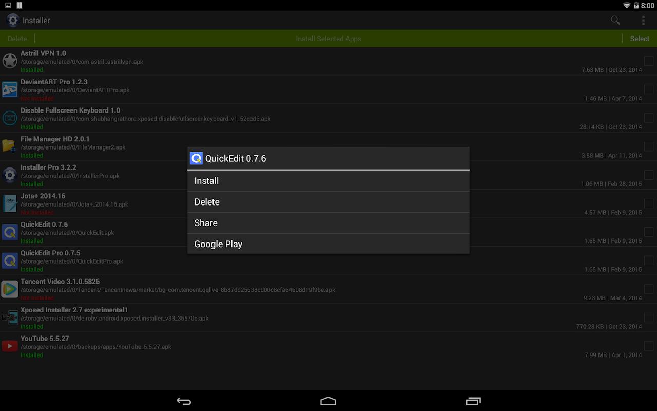 Installer Pro 3.4.2 Screen 6