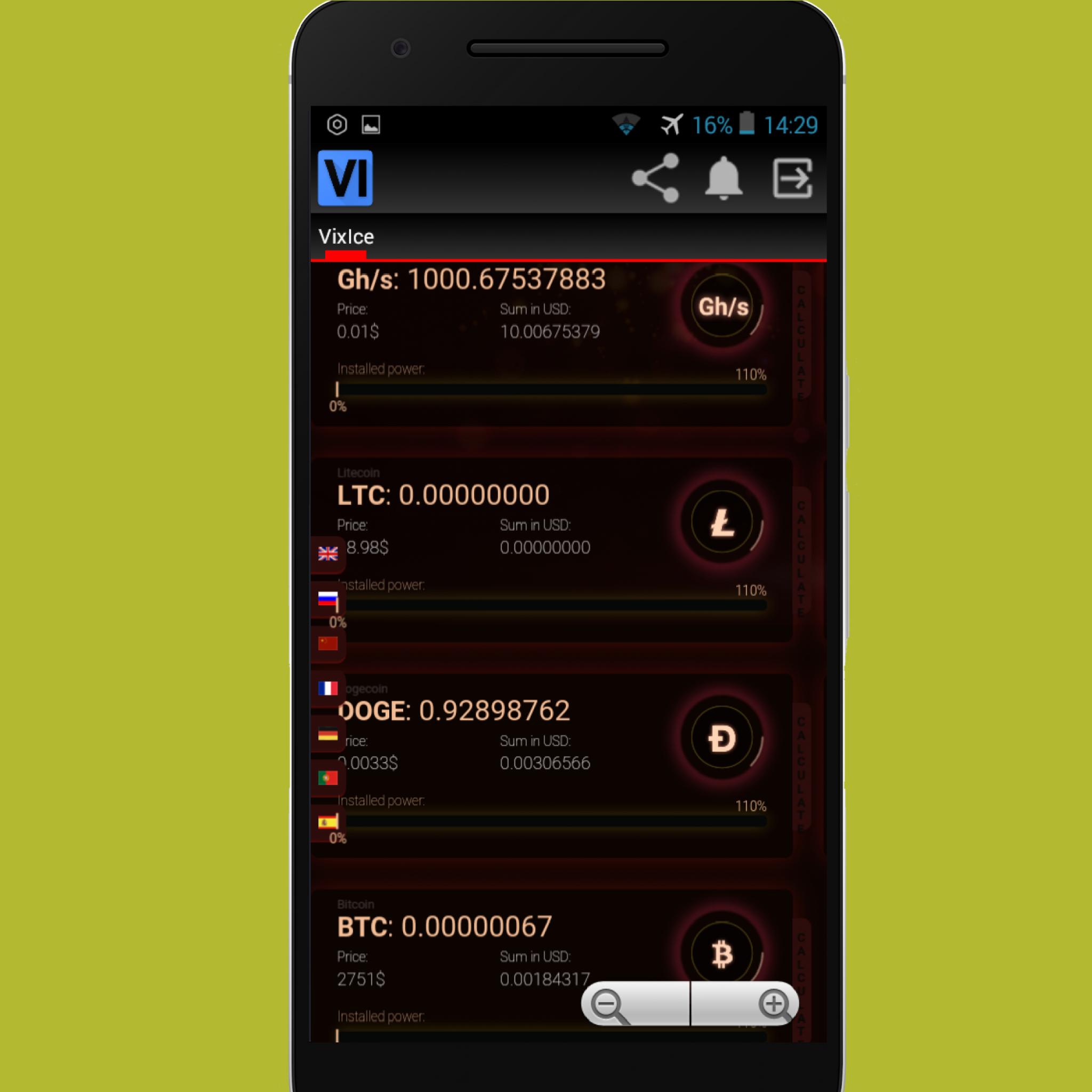 Vixice - Free Bitcoin Cloud Mining APKs   Android APK