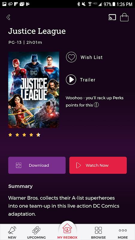 Redbox 7.5.0 Screen 2