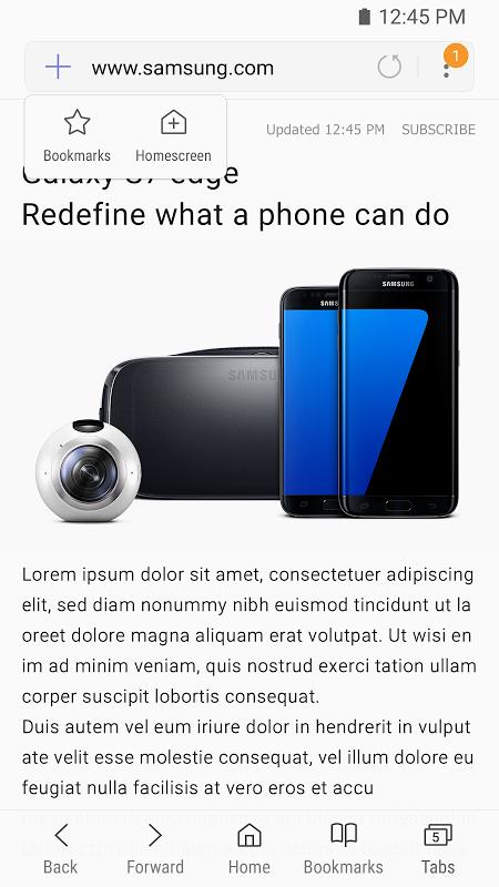 Samsung Internet Beta 5.4.00-40 Screen 4