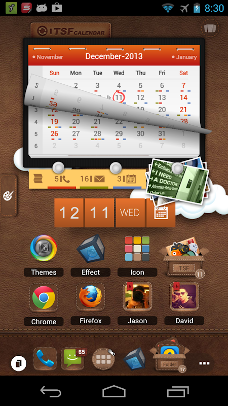 Android TSF Launcher 3D Shell Screen 1