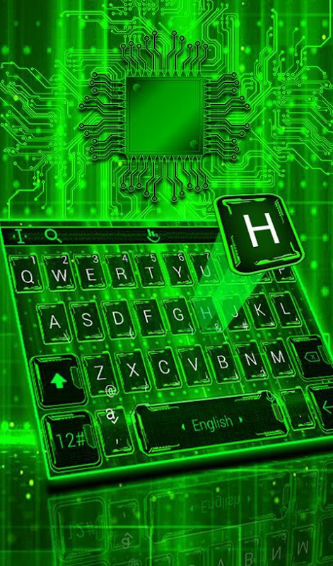Android Green Light Keyboard Theme Screen 2