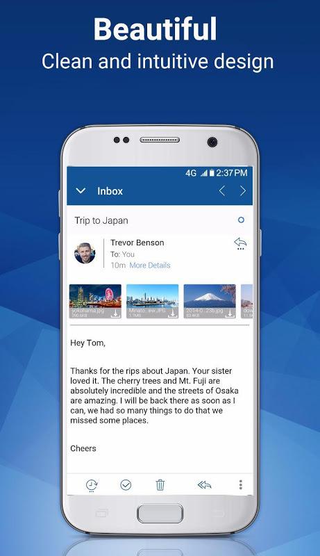 Blue Mail - Email & Calendar App - Mailbox 1.9.5.28 Screen 2