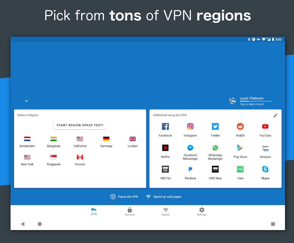 Hotspot VPN - Free, Unlimited, Fast, and Secure! 6.3.1008 Screen 1